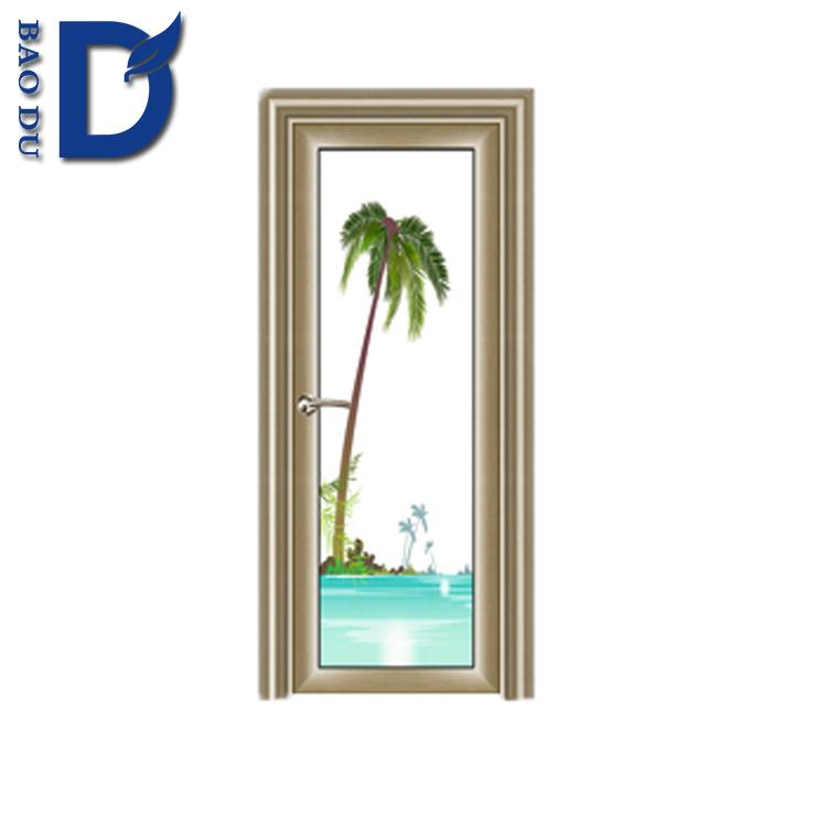 Aluminum Door Frame Glass Design Swing Single Door Powder Coated ...