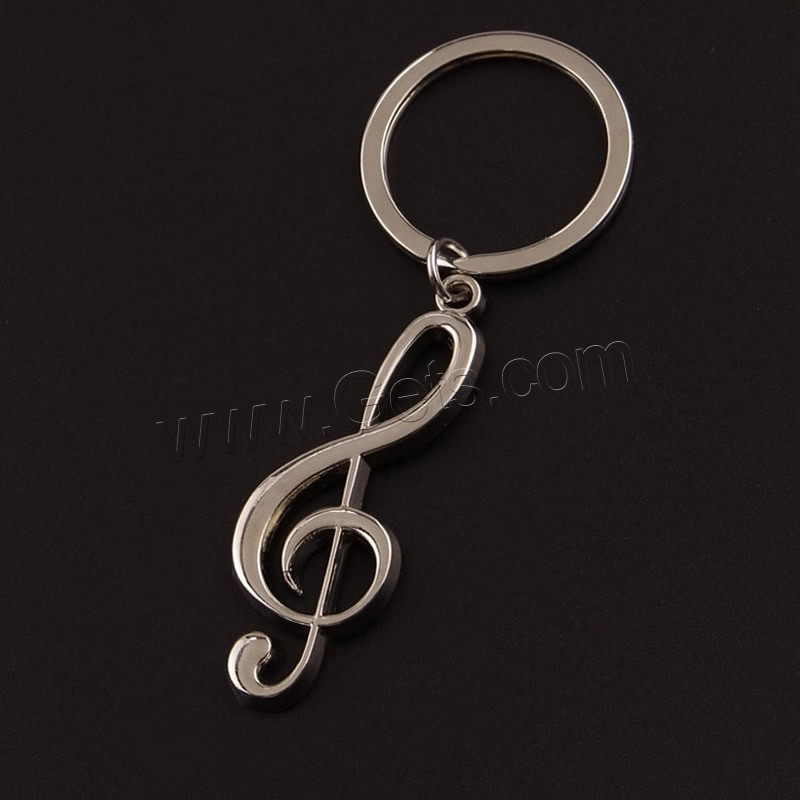 Zinc Alloy Key Chain Jewelry key chain and Music Note zinc alloy keychain