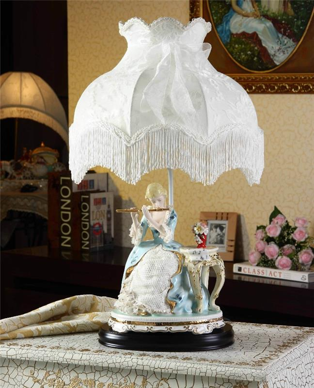 European royal style hand painted antique chinese porcelain figurine table lamps for home decor