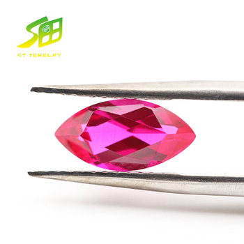 factory sale marquise shape synthetic ruby stone prices for gemstone ruby
