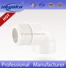 Hot-selling factory good price PVC BSPT THREAD PIPE FITTINGS, PVC Male & Female Elbow PLASTIC PIPE FITTINGS