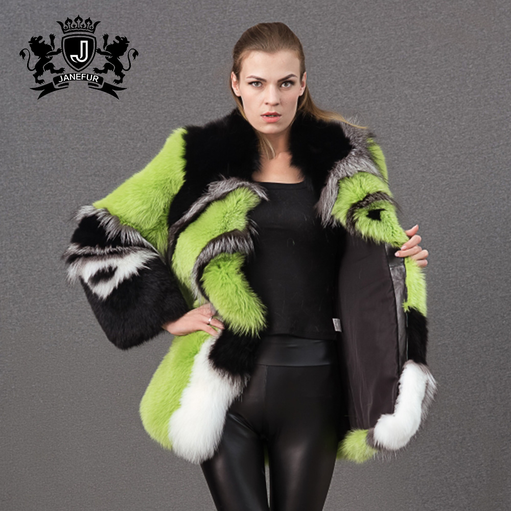 hottest sales winter clothes fox fur coats and jackets for women