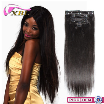 Chinese Hair Human Hair Type and Yes Virgin Hair Silky Straight Clip In Extension