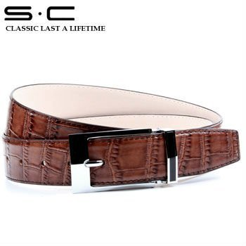 2013 italy belt designer new Fashion Unique Leather Belt in crocodile texture