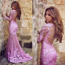Purple Applique Long Mermaid Prom Dresses Formal Party Evening dress Ball Gown LD8299