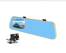 Full HD 1080P Video Car DVR Mirror Dual Camera Recorder 4.3 Inch LCD 170 Degree Wide Angle Dash Cam Front and Rear Camera