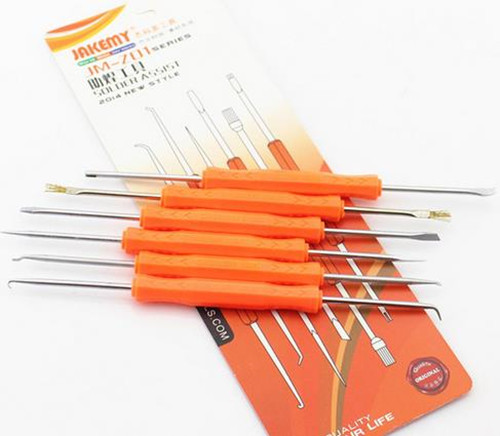 Y6 6 sets welding aids group welding tool brush fork scraping hook push cone