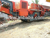 Pre-used mobile track mounted Jaw crushing plant