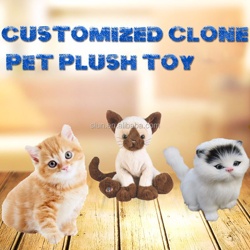 Promotional Stuffed Walking Cat Toys Plush Simulation Luxury Fur Cat Stuffed Toys
