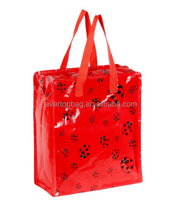 Special custom fashion red recycle vietnam pp woven bags
