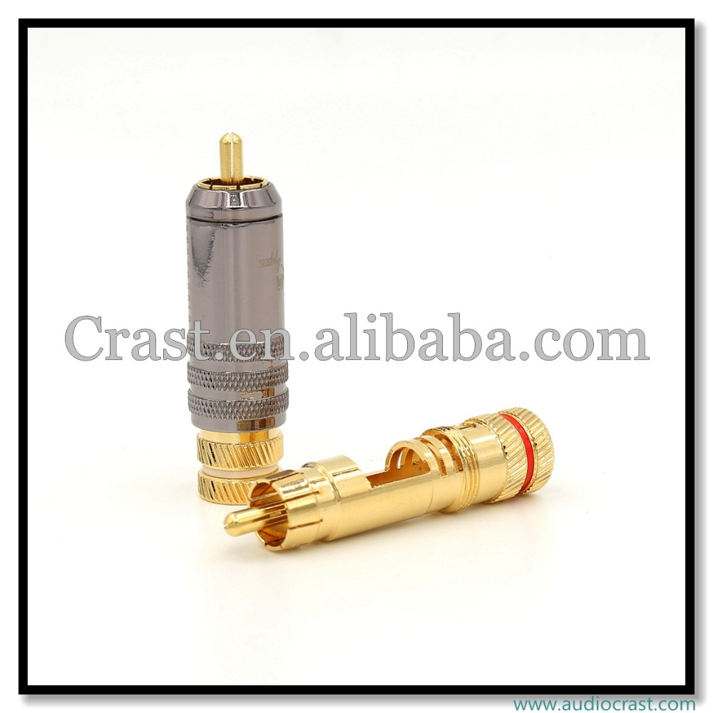 OEM 24K Gold Plated RCA Connector HIFI RCA Cable