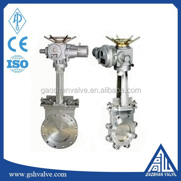 electric wafer knife gate valve with good price