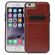 HAISSKY Leather Case For iPhone 7 Case Cover For iPhone 6 6s Plus 6Plus Luxury Wallet Card Slot Coque Phone Accessories