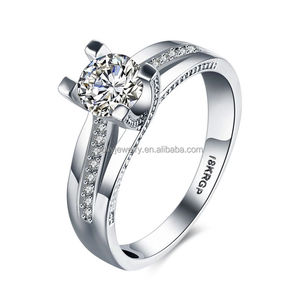 Fashion Jewelry 18K White Gold Plated Diamond Zircon Women's Ring