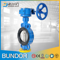 High performance 300mm cast iron epdm seat worm gear wafer type butterfly valve