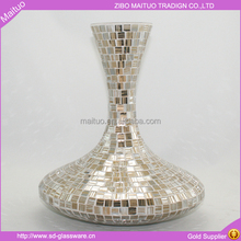glass vase affix mosaic for centerpieces