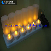 Rechargeable led tea lights yellow color BM-TL12