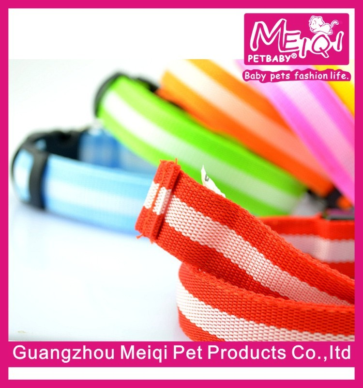 High Quality 2.5 Width Nylon Dog Collar for Pet with LED Light Wholesale