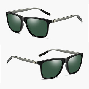 Plastic  frame and aluminum magnesium alloy arms polarized sunglasses for men and women