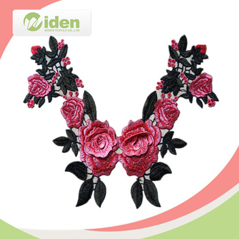 Multicolour Neck Collar Lace, 3D Embroidery Collar Lace