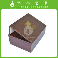 New design wooden box with leather closure