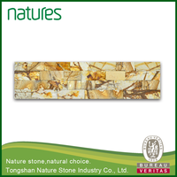 Natural gold wooden slate price of quartzite stone products