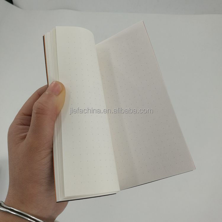 PU Leather Cover Dot Grid Notebook