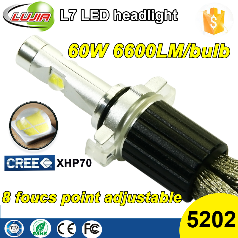High Power 120W LED conversion kit 6600lm XHP70 Crees led headlight replace 35w 55w HID Halogen H4 H7 H8 H9 H10 H11 H16 for cars