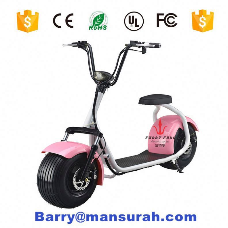 1000w Power and No Foldable citycoco 60-80km Range Per Charge Electric Scooter 800w motocycle