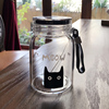 Small size cute decal glass bottle novelty drink bottles