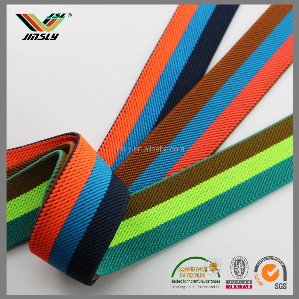 factory price custom stripe color elastic grosgrain printed jeans ribbon