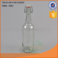 variety round glass swing top drinking bottles/ milk bottles/ liquid storage bottles in different design