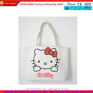 e68c56d98771 alibaba china supplier canvas tote bag pattern with hello kitty
