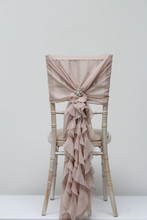 19869 Wedding ruffle chair hood and ruffle
