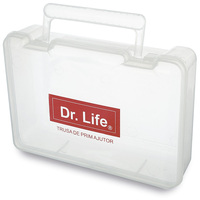 PP transparent plastic emergency first aid kit with handle
