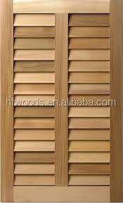 Customized antique window natural wood shutter and blinds