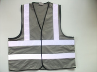 grey Hi Vis safety vest summer used clothing
