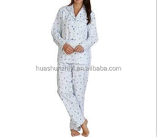 2017 comfortable leisure wear pajamas for women home wear pyjamas 100%cotton long sleeve tops and pants wholesale