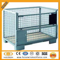 Alibaba China factory supplier collapsible wire mesh pallet containers
