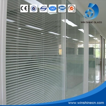 ISO9001 Approved 5mm + 19A + 5mm automatic venetian blinds, hollow blind glass