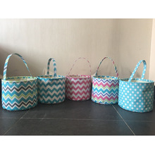 Wholesale Monogrammed Personalized Chevron Easter Basket