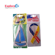 2017 Best Selling Hanging Sailboat Car Scent Air Freshener with logo printing