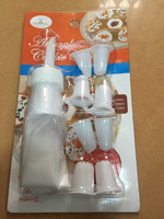 hot sale plastic icing piping bag with 9 nozzles