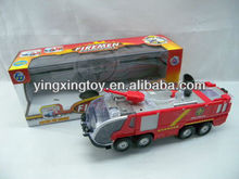 Kids plastic battery operated toy fire truck