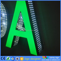 Pretty price 3D advertising solar power led sign epoxy lights