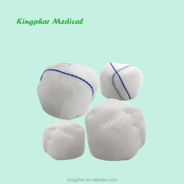30% viscose,70% polyester Non-woven Balls with or without x-ray detectable thread