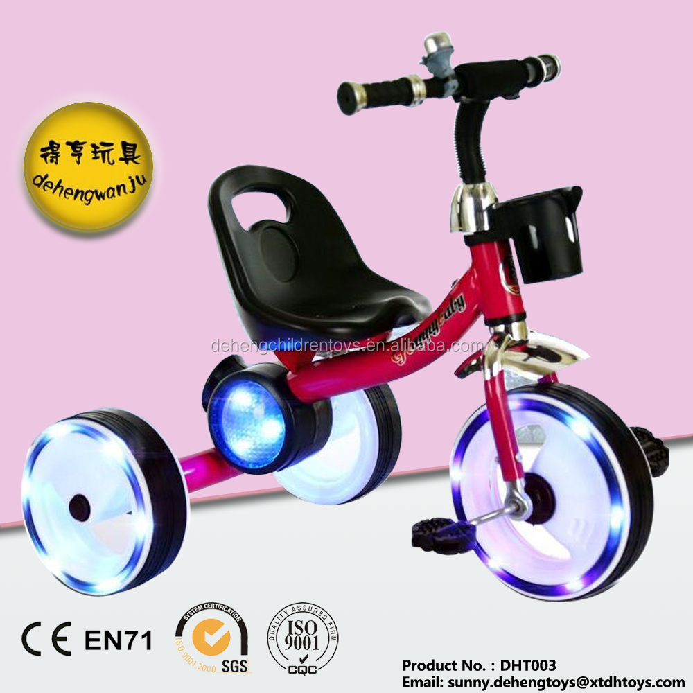 2016 NEW NEW NEW model baby tricycle with subwoofer and colorful light 3 wheels Cool bike with colorful light fationable