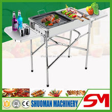 Stainless steel folding type gas grill restaurant