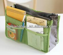 Multi-function Nylon Handbag Organizer Bag in Bag with Inserted Pockets