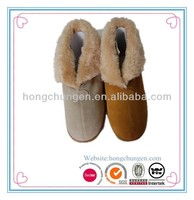 winter women mirco suede indoor shoe with fur